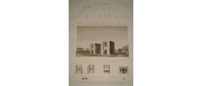Elevation Et Vue En Plan : Jollois description de l egypte ile philae détails