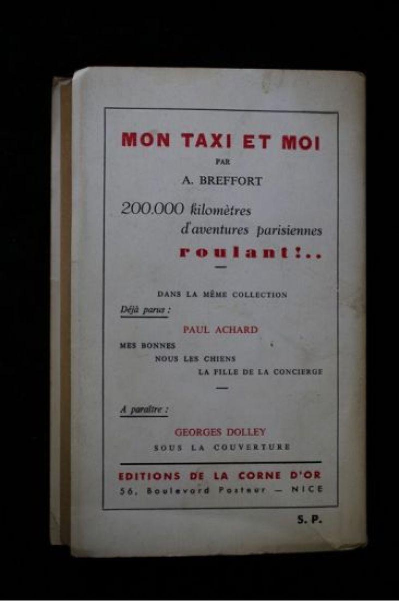 breffort mon taxi et moi autographe edition originale edition. Black Bedroom Furniture Sets. Home Design Ideas
