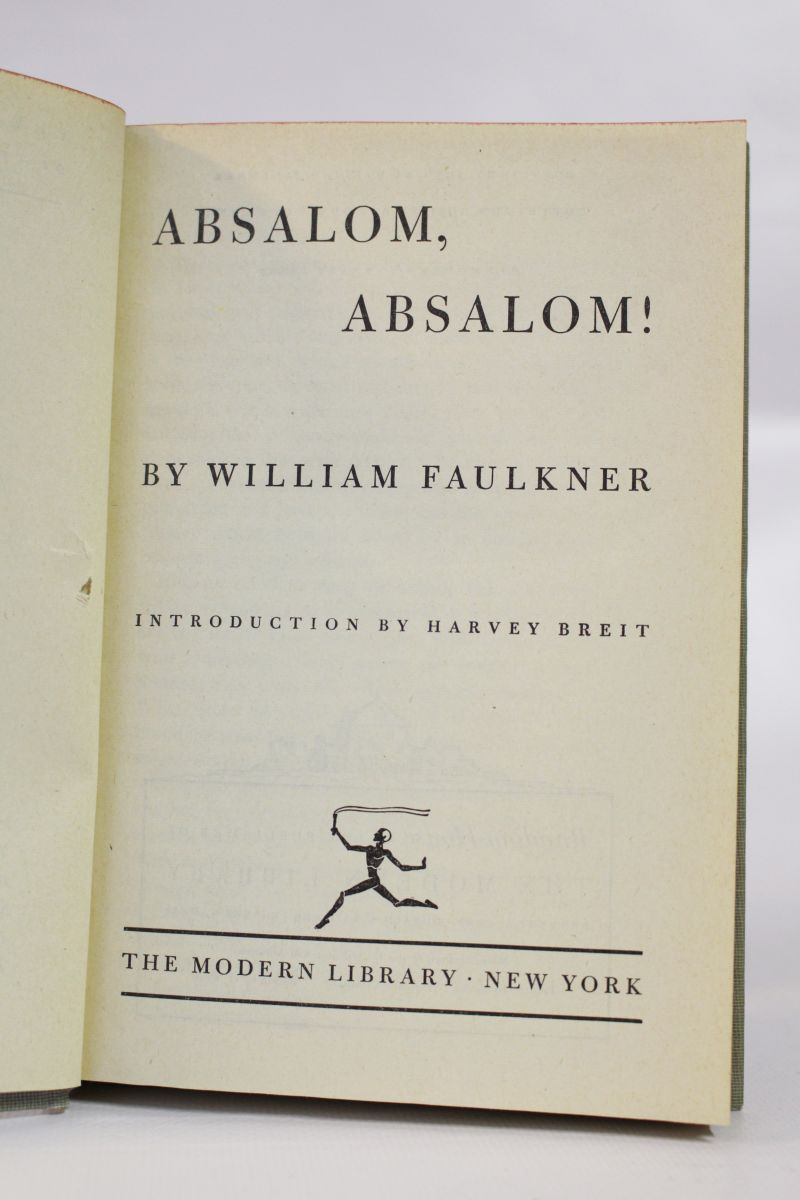 an analysis of guilt in absalom absalom a story by william faulkner Essay on william faulkner's absalom, absalom - william faulkner is the author of absalom, absalom, a southern novel published in 1936.