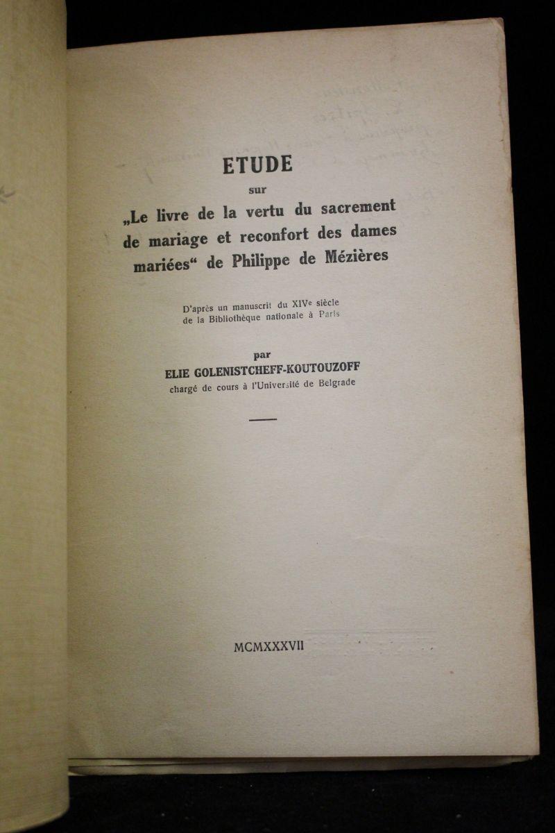Golenistcheff koutouzoff etude sur le livre de la vertu for Le livre de mariage
