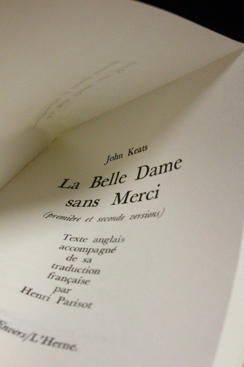 john keats - la belle dame sans merci essay