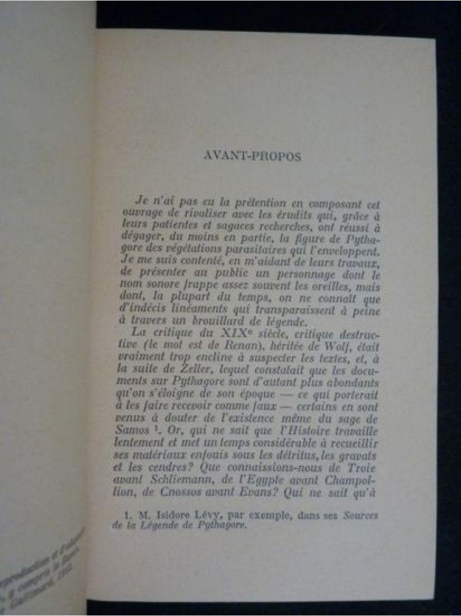 millepierres pythagore fils d 39 apollon edition originale edition. Black Bedroom Furniture Sets. Home Design Ideas