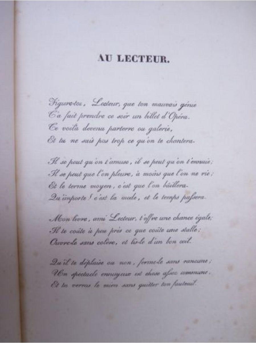 musset un spectacle dans un fauteuil autographe edition originale edition originale