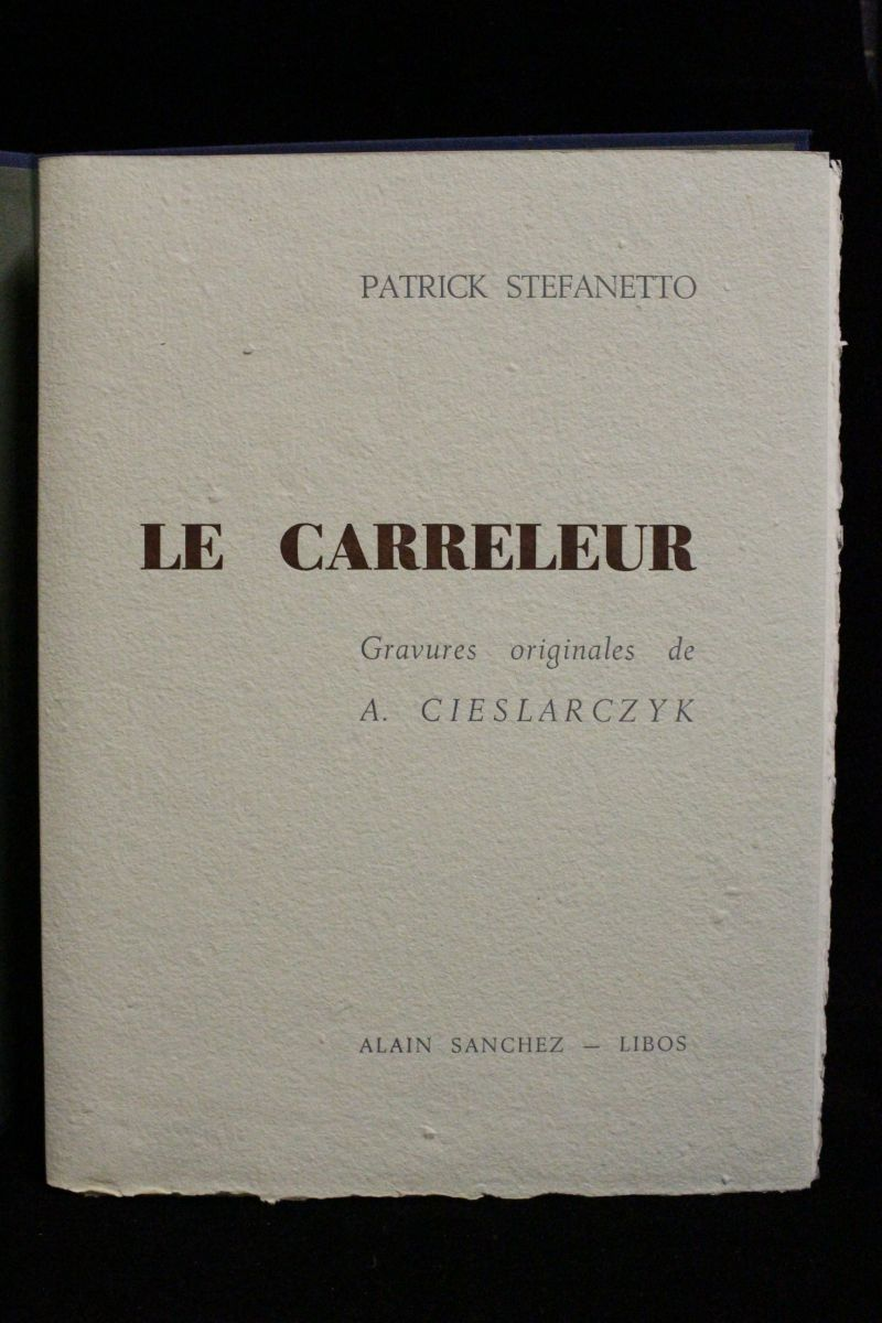 Stefanetto le carreleur autographe edition originale for Tarif carreleur