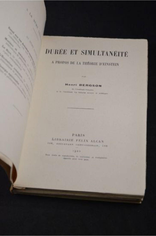 Bergson dur e et simultan it propos de la th orie d 39 einstein editi - Duree papiers administratifs ...