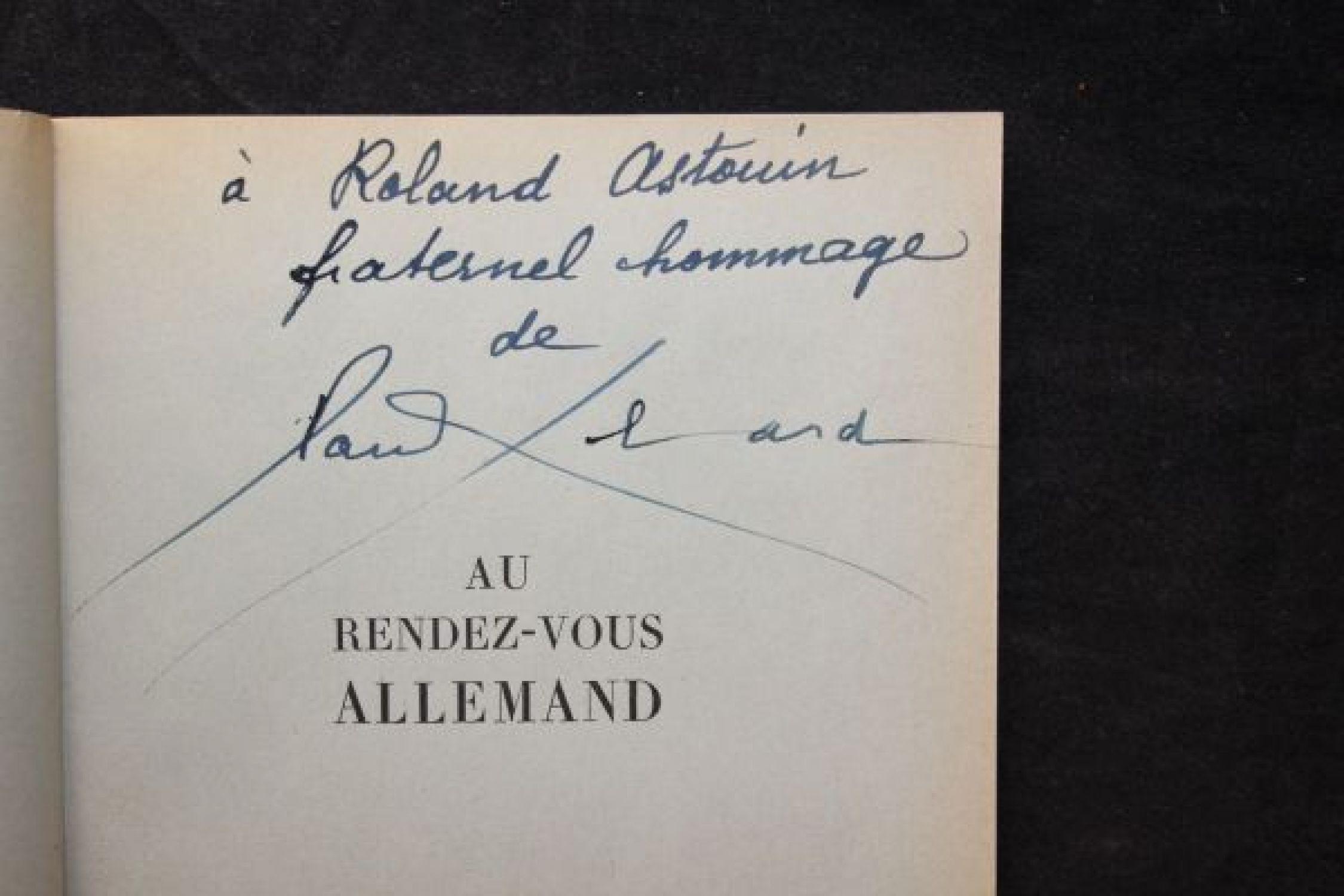 eluard au rendez vous allemand suivi de po sie et v rit 1942 autographe edition originale. Black Bedroom Furniture Sets. Home Design Ideas