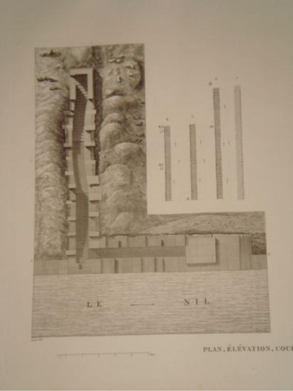 Elevation Plan Description : Girard description de l egypte ile d ÉlÉphantine plan