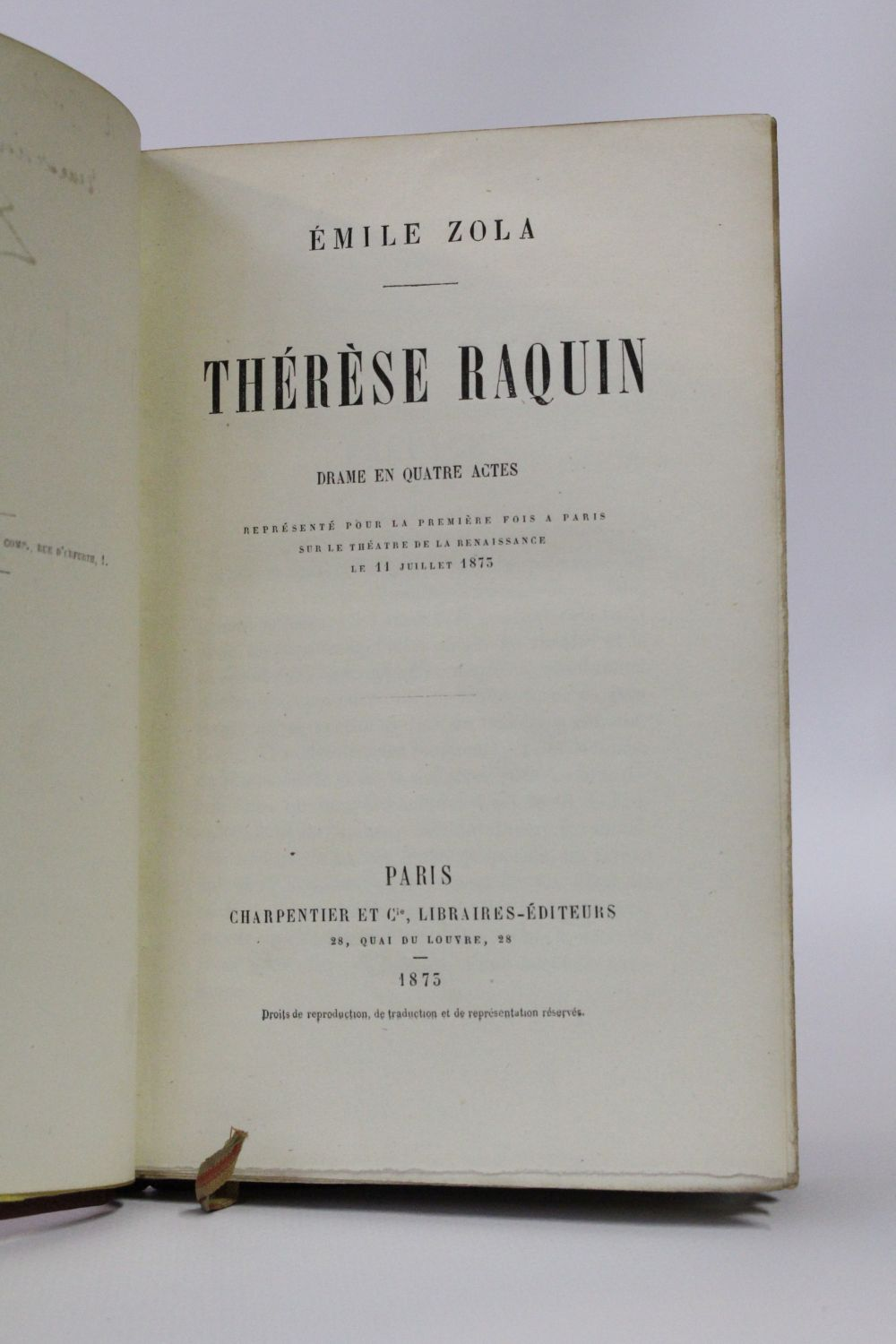 the manipulation of setting in therese raquin a novel by emile zola Therese raquin essay authors, to convey a certain message within a given  scene, manipulate the setting the setting of a given story can influence the mood  o.