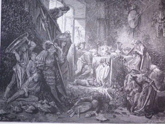 DORE  Charles Perrault, Contes, La Belle au Bois Dormant, Le Château  ~ Rue De La Belle Au Bois Dormant