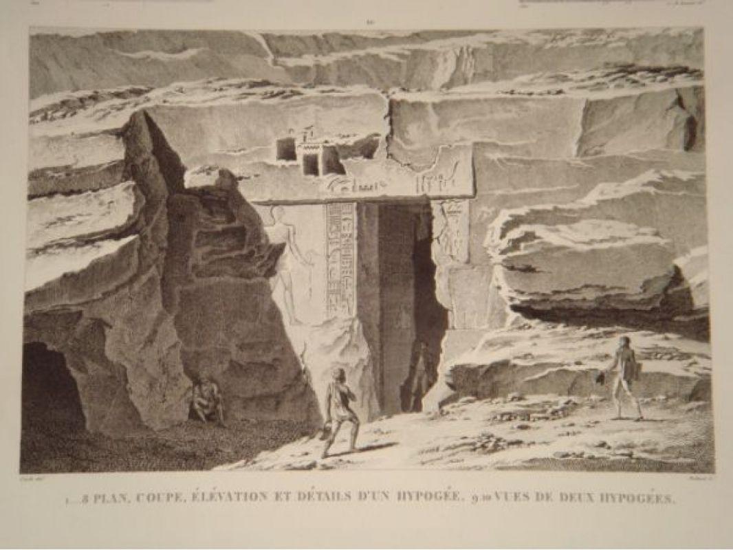 Elevation Plan Coupe : Cecile description de l egypte syout lycopolis