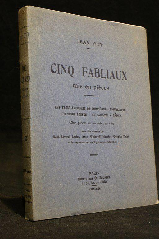 ott cinq fabliaux mis en pi ces leverd jonas point edition originale 1930 ebay. Black Bedroom Furniture Sets. Home Design Ideas