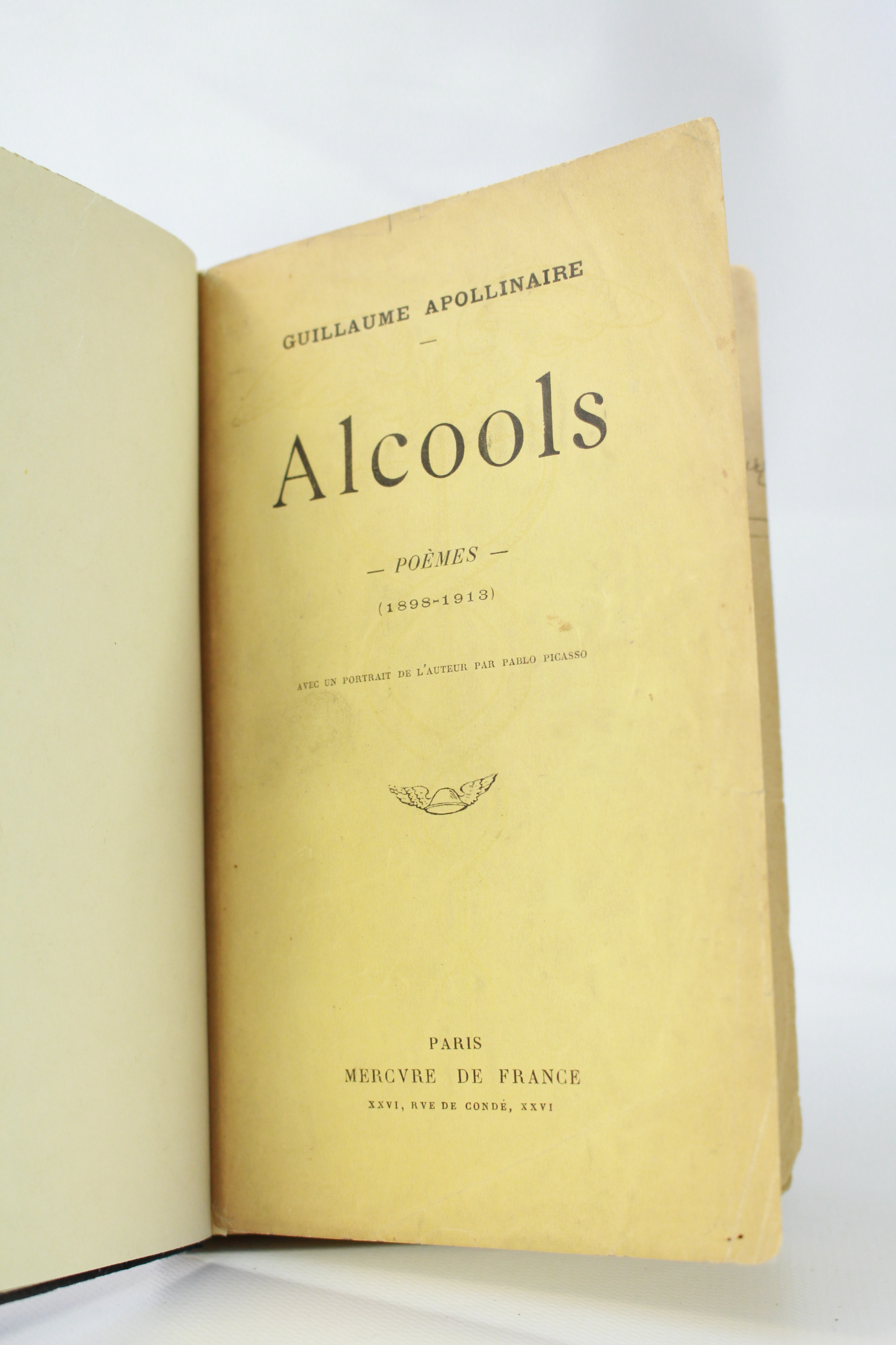 Details About Apollinaire Alcools Poemes 1898 1913 First Edition Inscribed Fine Binding 1913