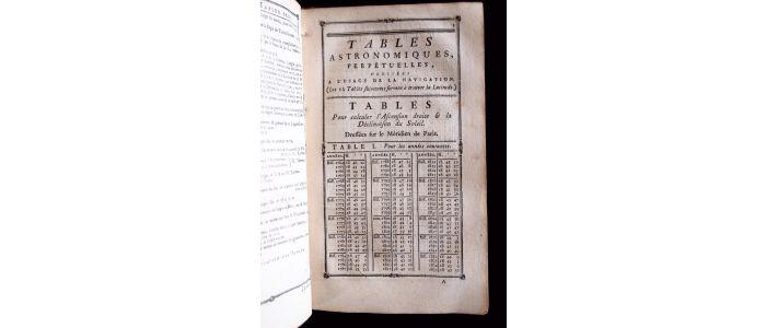 anonyme recueil de tables astronomiques perp tuelles et de la table des logarithmes des. Black Bedroom Furniture Sets. Home Design Ideas