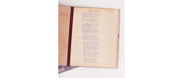 Aragon Poème Manuscrit Amour Delsa Jaloux Des Gouttes