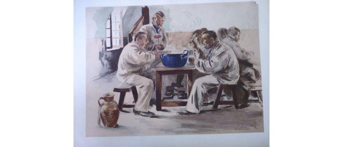 Lestampe Moderne La Soupe à La Chambrée Lithographie Originale