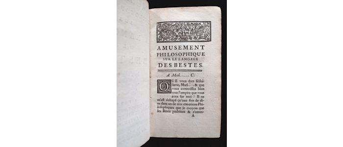 Amusement Philosophique Sur Le Langage Des Bestes (1739)