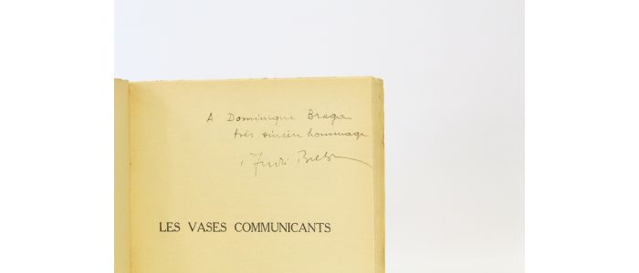 Breton Les Vases Communicants Signed Book First Edition