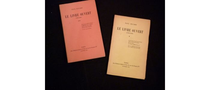 Eluard Le Livre Ouvert I Ii Signed Book First Edition