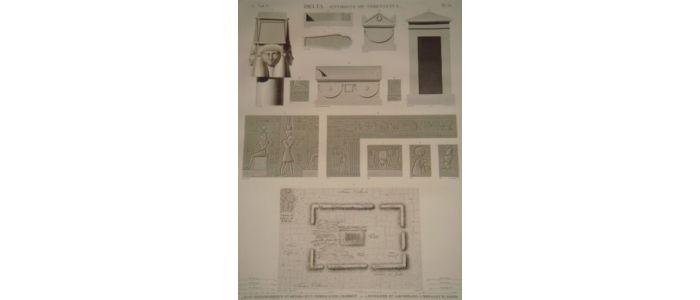dubois ayme description de l 39 egypte delta environs de sebennytus plan topographique et. Black Bedroom Furniture Sets. Home Design Ideas