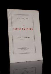 Rimbaud Une Saison En Enfer First Edition Edition