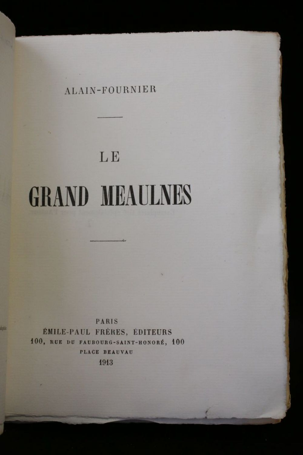 Le Grand Meaulnes revisited