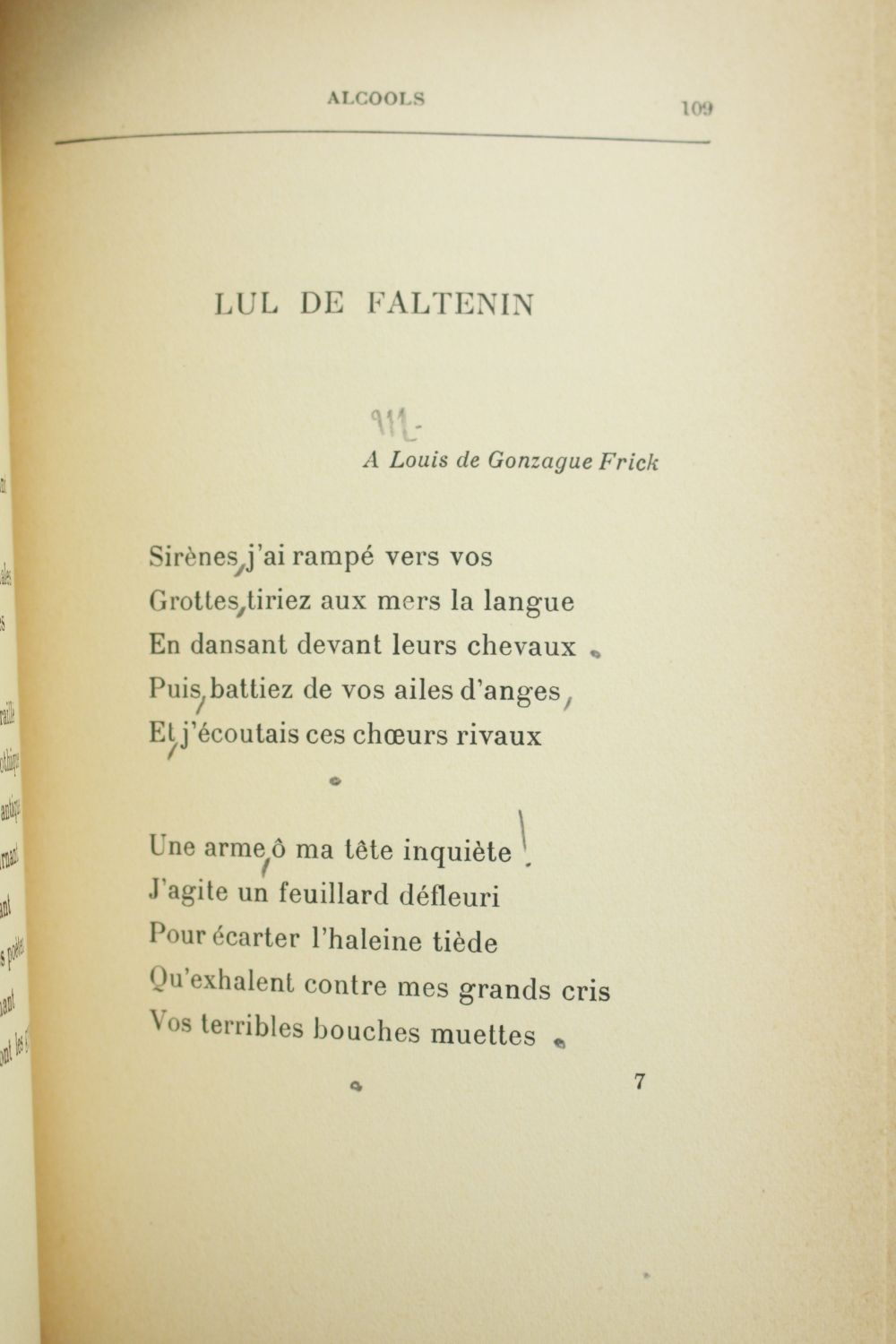 Apollinaire Alcools Poèmes 1898 1913 Signed Book First