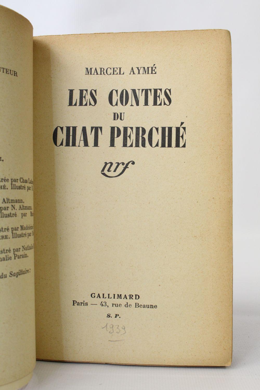 ayme les contes du chat perch autographe edition originale edition. Black Bedroom Furniture Sets. Home Design Ideas