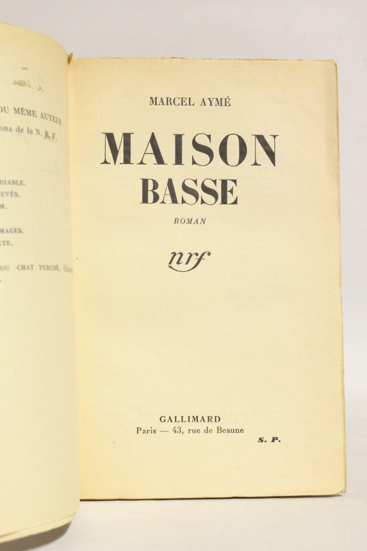 ayme maison basse autographe edition originale. Black Bedroom Furniture Sets. Home Design Ideas