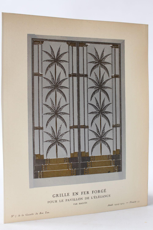 bagues grille en fer forg pour le pavillon de l 39 l gance par bagu s la gazette du bon. Black Bedroom Furniture Sets. Home Design Ideas