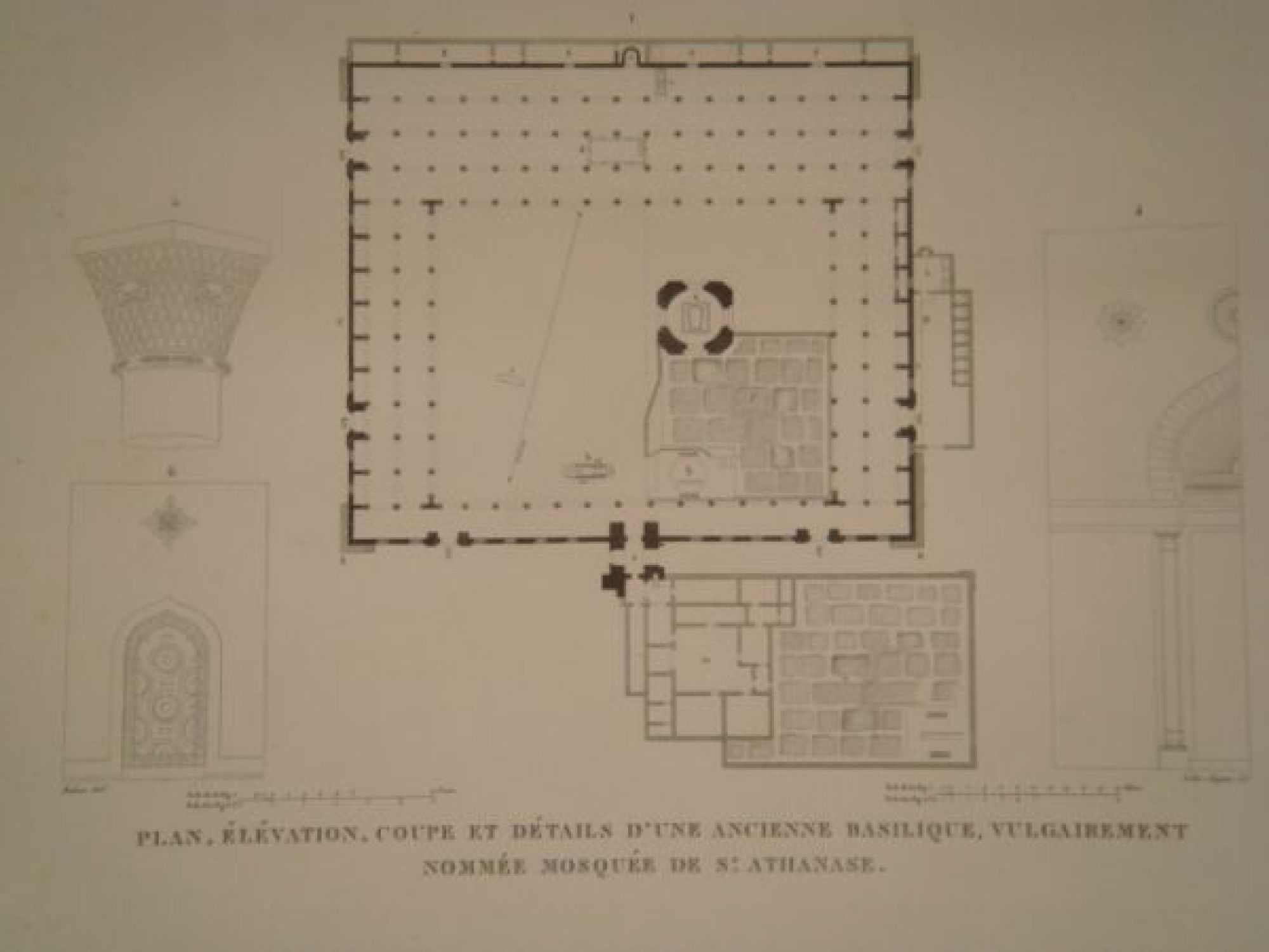 Elevation Plan Coupe : Description de l egypte alexandrie plan élévation
