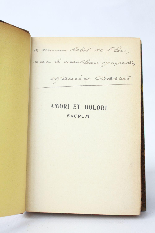 Amori De barres : amori et dolori sacrum - signed book, first edition