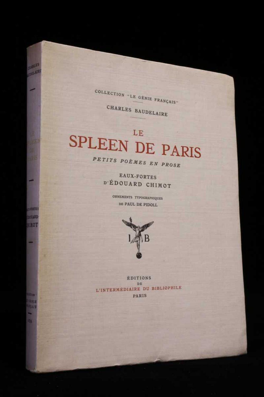 Baudelaire Le Spleen De Paris Petits Poèmes En Prose
