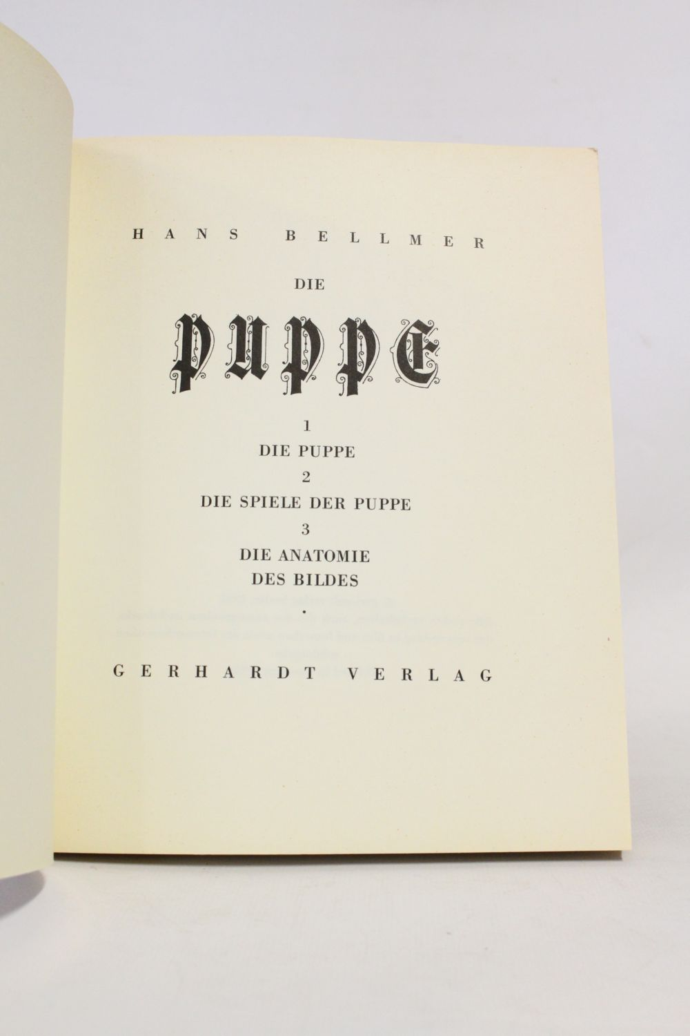 BELLMER : Die puppe - Signed book, First edition - Edition-Originale.com