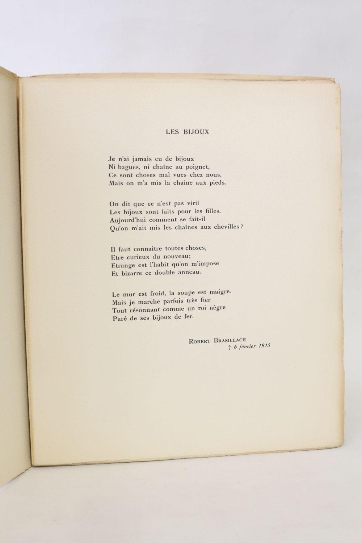 Brasillach Affres 10 Poèmes Aux Gémonies First Edition