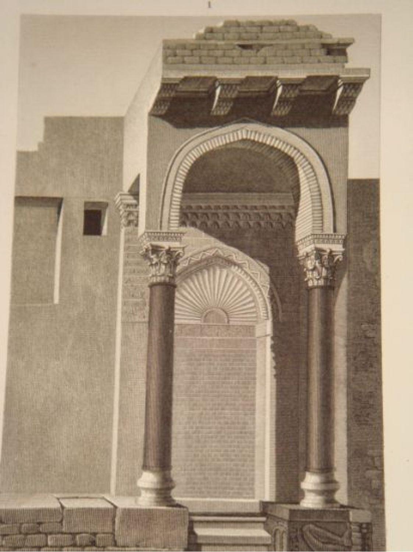 description de l 39 egypte alexandrie vues d 39 une mosqu e ruin e et de plusieurs tours de l. Black Bedroom Furniture Sets. Home Design Ideas