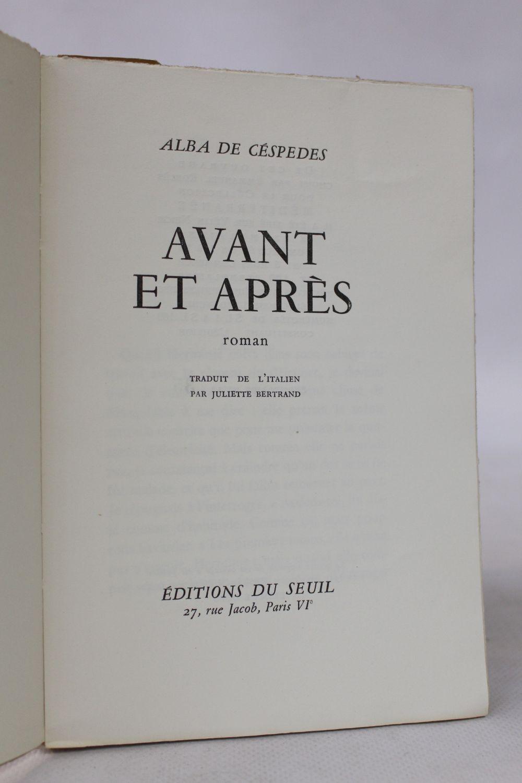 cespedes avant et apr s first edition edition. Black Bedroom Furniture Sets. Home Design Ideas