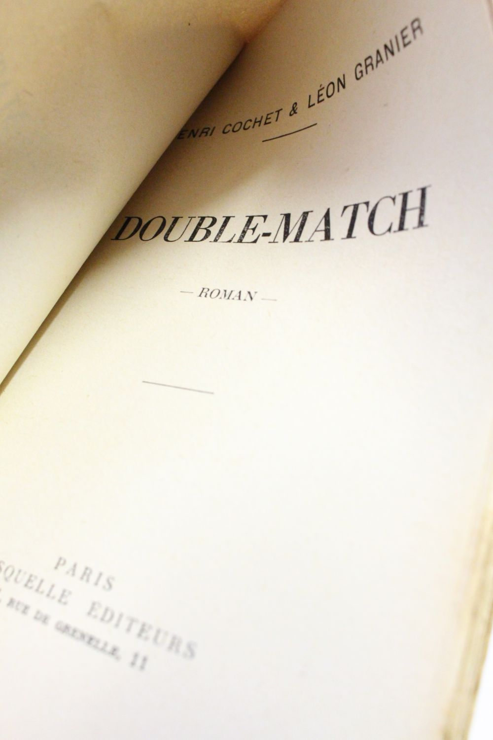 Double match First edition Edition Originale