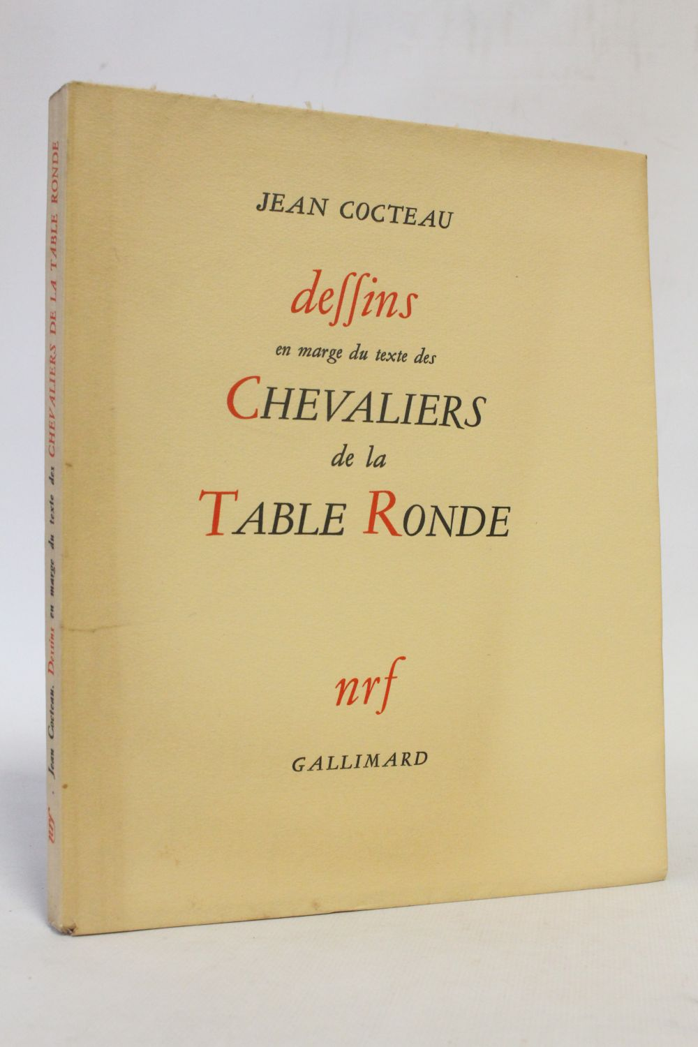 cocteau dessins en marge du texte des chevaliers de la table ronde edition originale