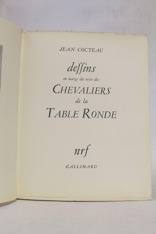 Cocteau dessins en marge du texte des chevaliers de la table ronde edition originale - Dessin anime chevalier de la table ronde ...