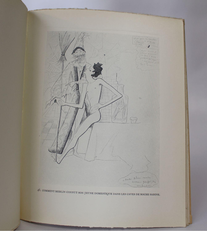 Cocteau dessins en marge du texte des chevaliers de la - Dessin anime chevalier de la table ronde ...