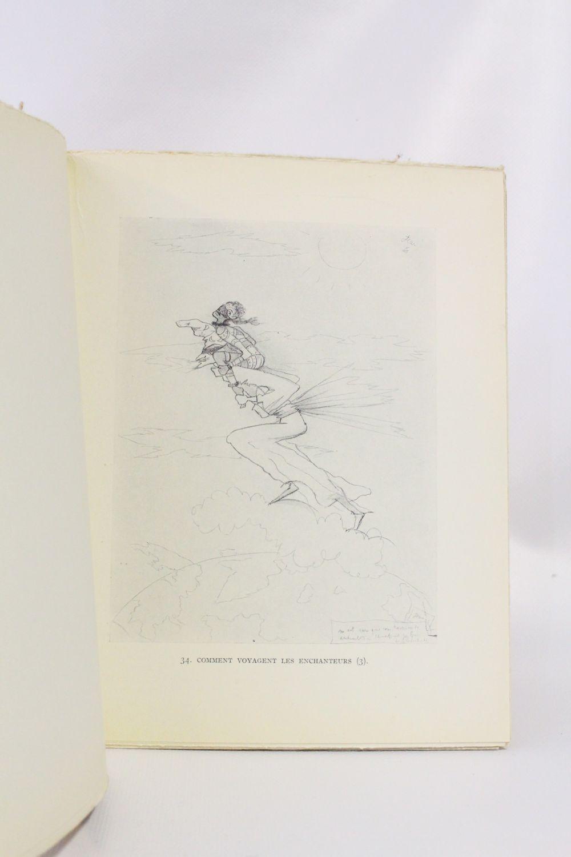 Cocteau Dessins En Marge Du Texte Des Chevaliers De La Table Ronde Prima Edizione Edition