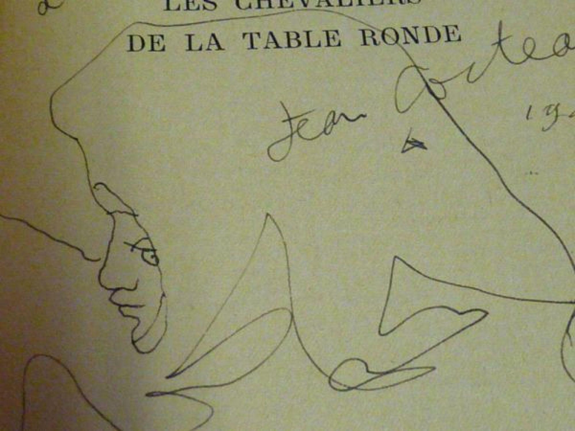cocteau les chevaliers de la table ronde autographe