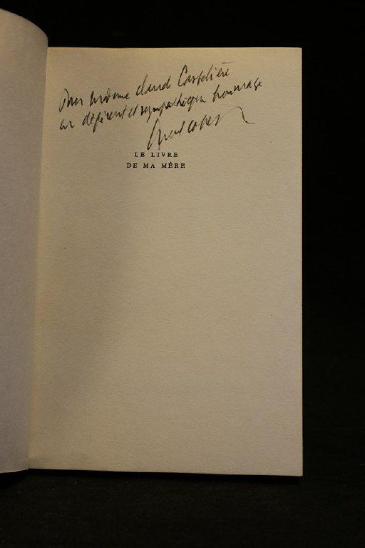 COHEN : Le livre de ma mère - Autographe, Edition