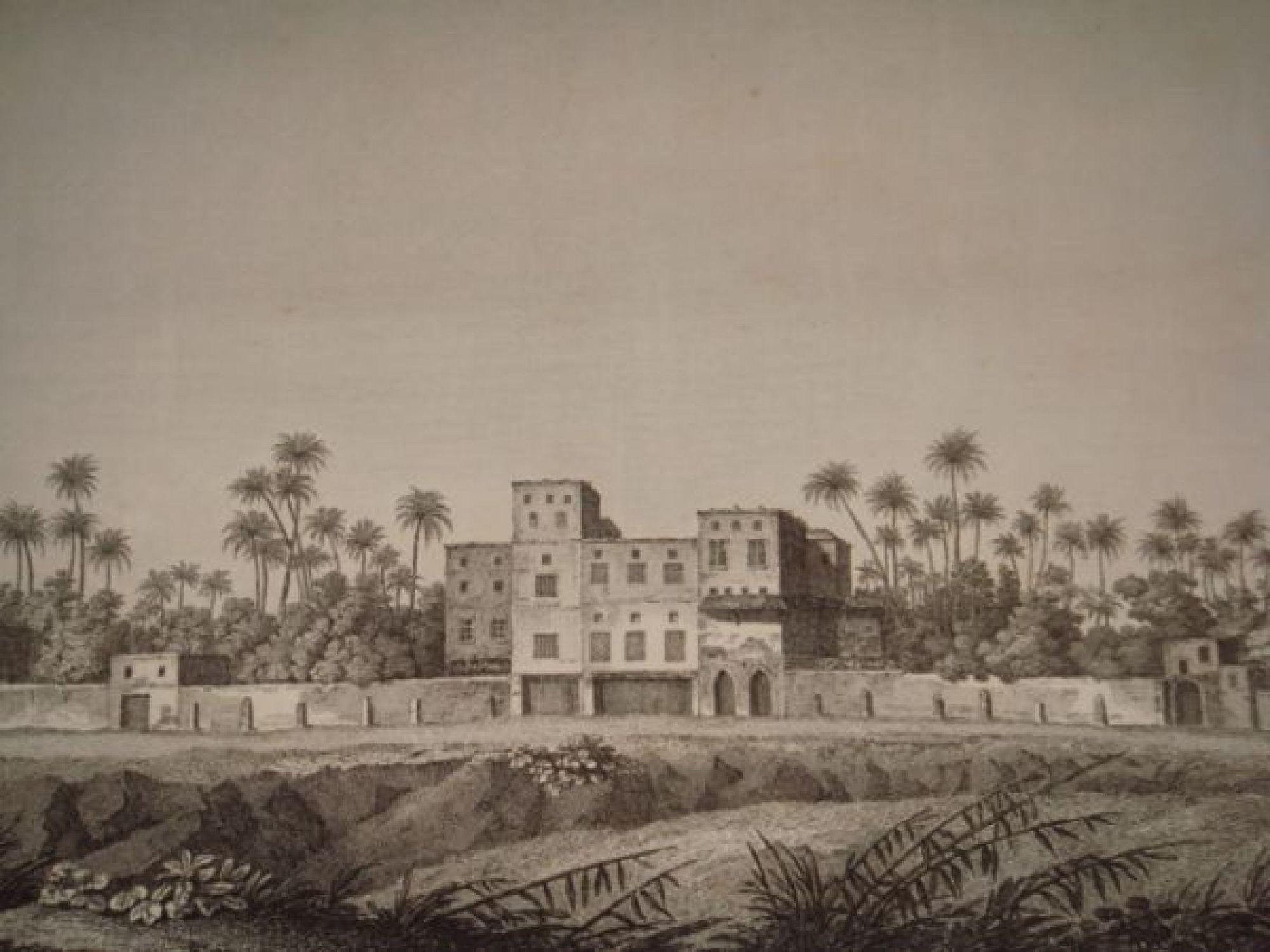 description de l 39 egypte basse egypte vue d 39 une maison des environs de rosette vue du fort d. Black Bedroom Furniture Sets. Home Design Ideas