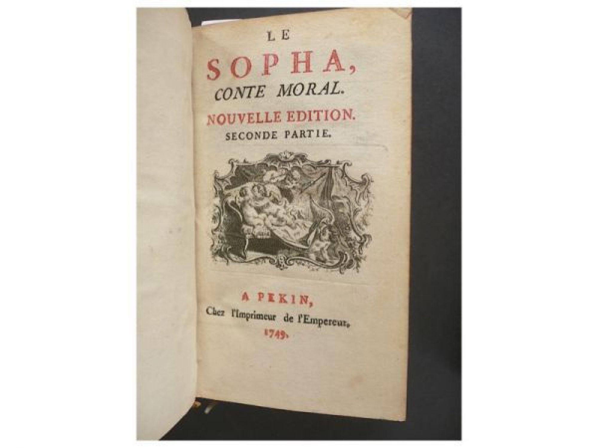 Edition Fils dit crebillon fils le sopha conte moral edition originale com