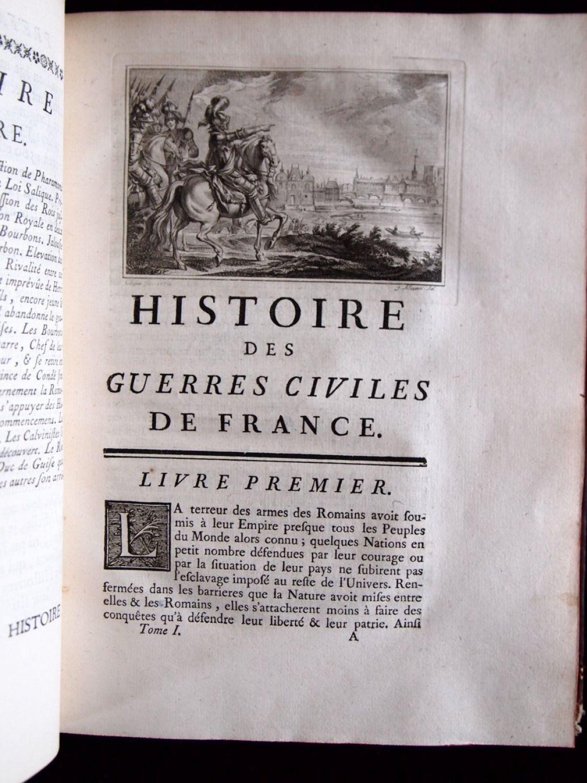 DAVILA : Histoire des guerres civiles de France sous les règnes de François  II, Charles IX, Henri