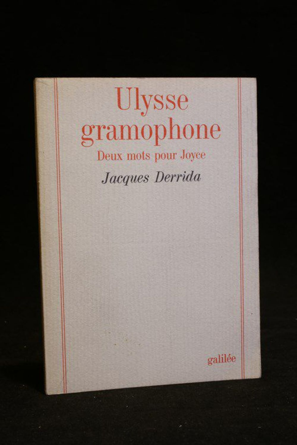 "jacques derrida essay ulysses gramophone Derrida on translation and his  the influence of jacques derrida's work in america is vast and  (1985) 4 ""ulysses gramophone hear say yes in joyce"" ."