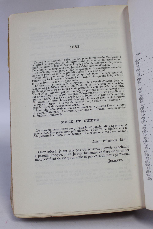 Drouet Mille Et Une Lettres Damour à Victor Hugo First
