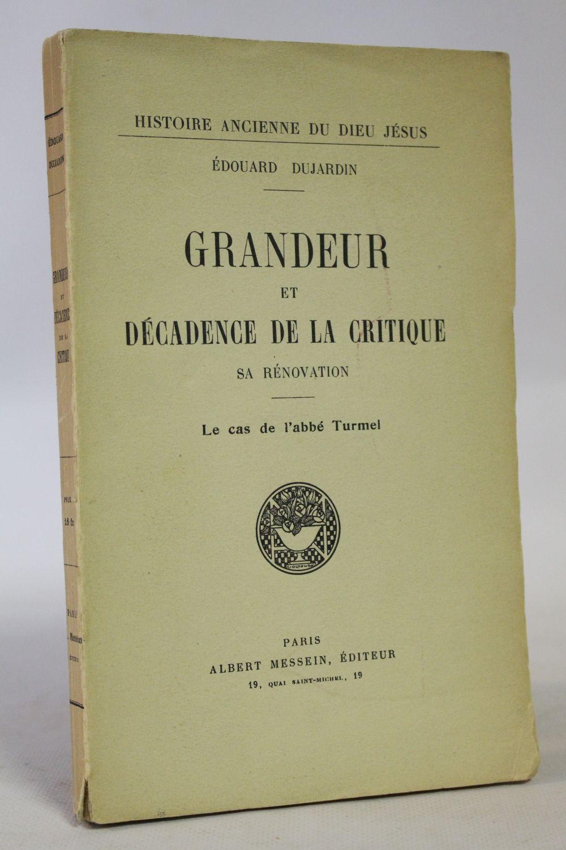 Dujardin grandeur et d cadence de la critique for Edition dujardin