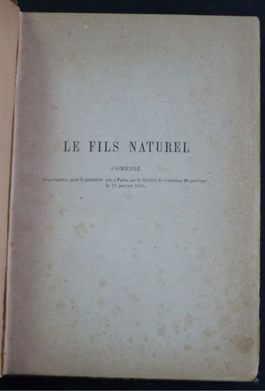 Edition Fils fils le fils naturel edition edition originale com